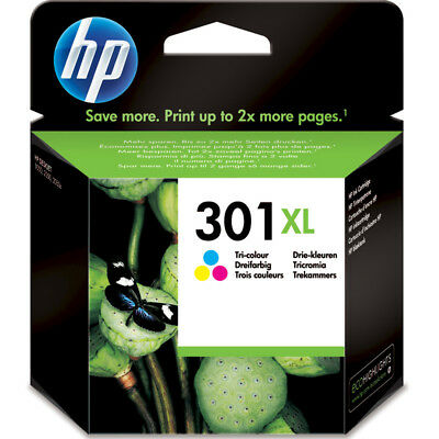 1x ORIGINAL HP 301XL color TINTE PATRONE Deskjet 2540 2544 3050 2050