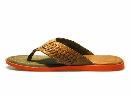 Red Tape Coe Tan Leather and Orange Sandals UK 7-12 RRP £34 Free UK P/&P