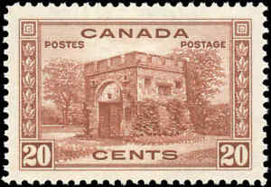 1938-Mint-H-Canada-VF-Scott-243-20c-Pictorial-Issue-Stamp