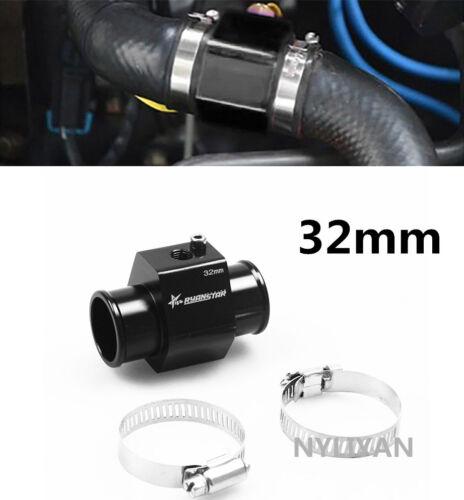 32mm Car Water Temp Temperature Joint Pipe Sensor Gauge Radiator Hose Adapter