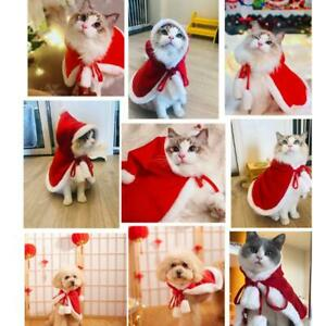 Pet-Cat-Dog-Puppy-Hoodie-Cloak-Shawl-Christmas-Clothes-Coat-Costume-Apparel-S-L