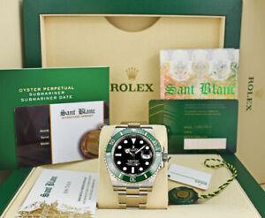 ROLEX-2020-SS-SUBMARINER-Green-CERAMIC-Box-Card-126610-KERMIT-SANT-BLANC