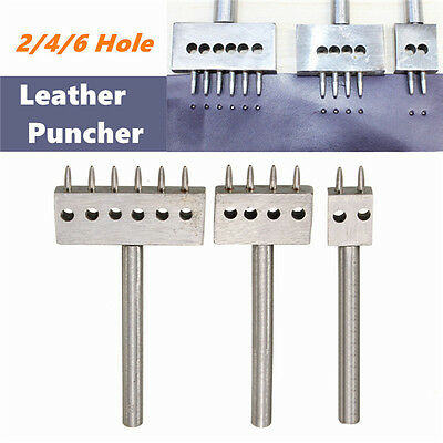 8mm Spacing Row Leather Craft Round Hole Punch Cutter Puncher 2/4/6 Hole