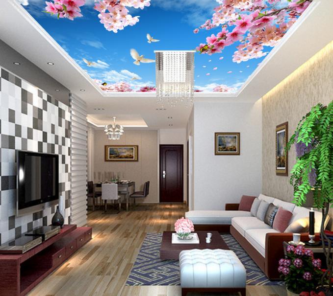 3D Peach 43 Ceiling WallPaper Murals Wall Print Decal AJ WALLPAPER US