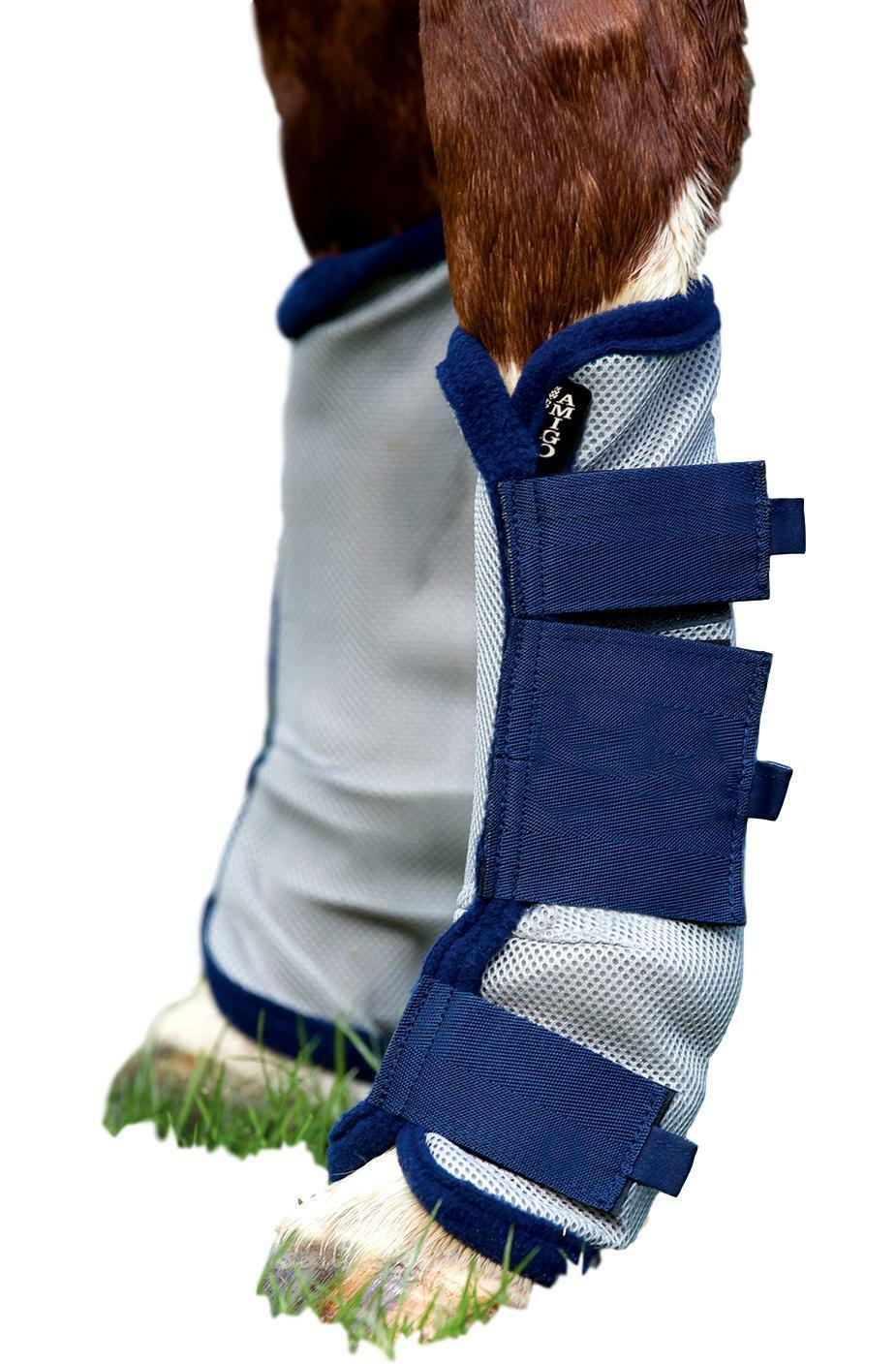 Horseware Ireland Amigo Fly Boots with Airmesh Fabric Bound in Fleece