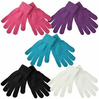 Childrens//Kids Winter Magic Gloves Blue One Size