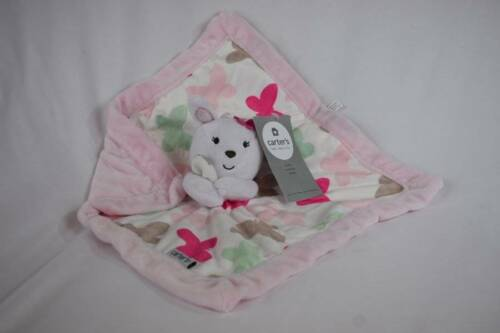 Carters NWT Lovey Security Blanket Plush Bunny Rabbit Butterfly White Pink Blue