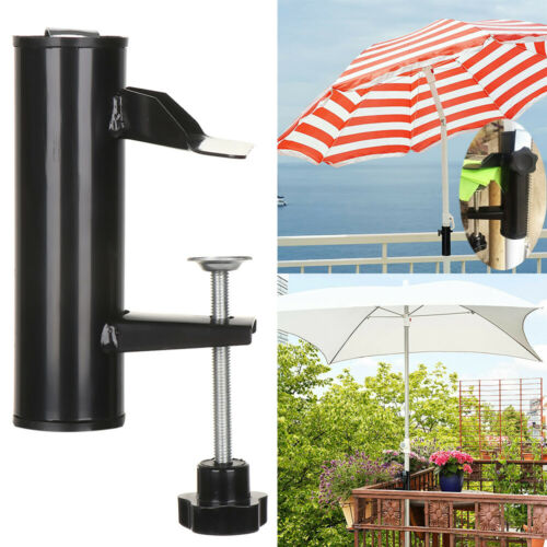 Outdoor Sunshade Stand Parasol Stand Bracket Umbrella Holder Clamp Garden Patio