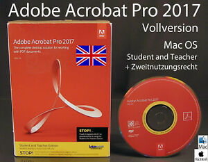 Adobe-Acrobat-Pro-2017-Vollversion-Box-CD-Mac-Englisch-Student-Teacher-OVP