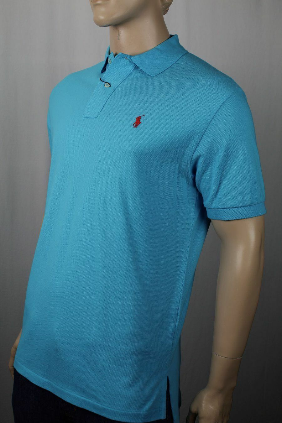 68849ac99d Ralph Lauren bluee Mesh Polo Shirt Classic Fit Red Pony NWT. 90's ...