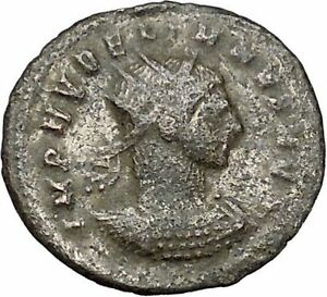 AURELIAN-receiving-wreath-from-woman-Authentic-Ancient-Roman-Coin-i40855