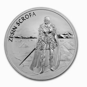 2019-South-Korea-1-2-oz-Lunar-Warrior-999-Silver-ZI-SIN-Scrofa-LOW-MINTAGE
