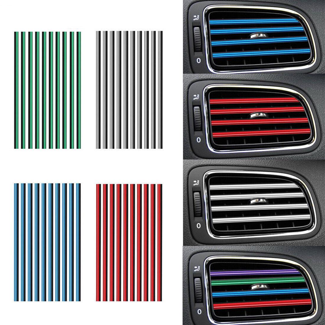 10X Car Air Conditioner Outlet Grille U Shape Molding Trim D