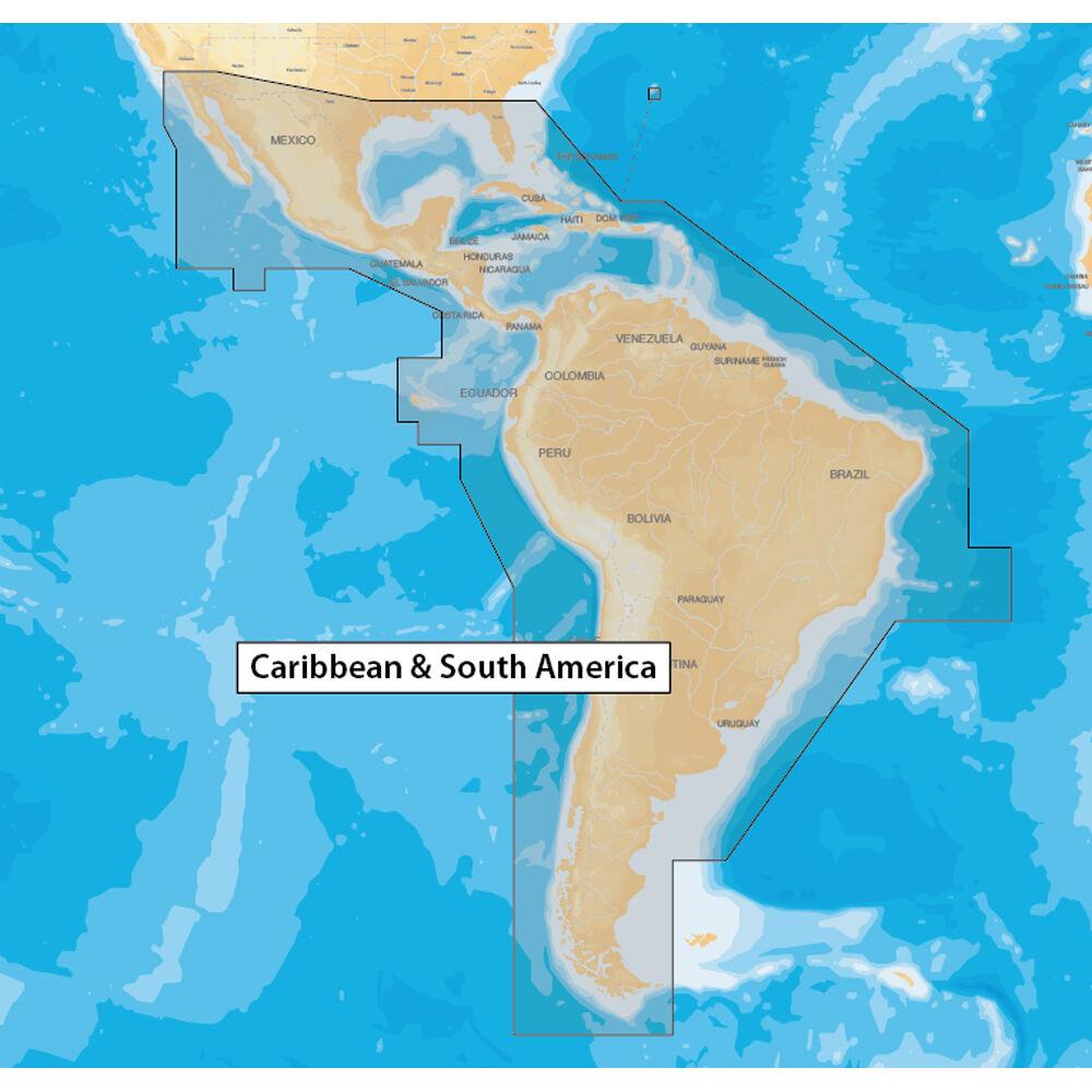 Navionics Caribbean & South America  microSD