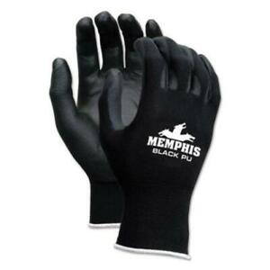 R3 Safety 9669XL Economy Pu Coated Work Gloves, Black, X-large, 1 Dozen