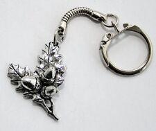 Acorn (Oak Tree) Key-ring (keychain) in Fine English Pewter, (tsH), Keyring