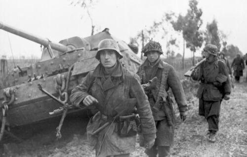 WW2 Photo German Ferdinand Tiger Variant WWII MG34 World War Two Wehrmacht
