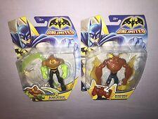 """2x BATMAN UNLIMITED MAN-BAT & SCARECROW 4"""" Action Figures **NEW**"""