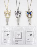 Fancy Owl Id Badge Holder Necklace Lanyards N1087/8/9