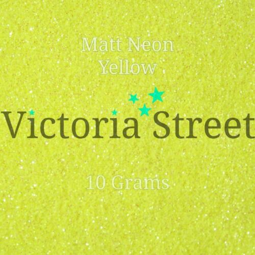 "Victoria Street Glitter Lemon Minion Neon Matte Yellow Fine 0.008/"" // 0.2mm"