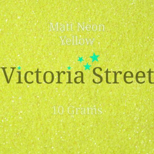 "Victoria Street Glitter Lemon Minion Neon Matte Yellow Fine 0.008/"" // 0.2mm"
