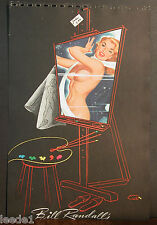 Bill Randall Cover Page 1950's Artist Blond Pinup Image Easel Palette