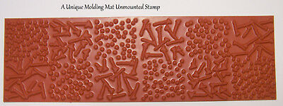 Mini Bold Graphic Design Polymer Clay Molding Mat Texture Rubber Stamp