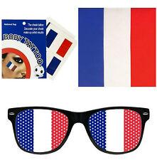 supporter équipe de France (lunette, Bandana,tatouage)