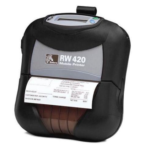 Zebra RW 420 RW420 Mobile Thermal Printer Wireless 802 11 Wifi R4A
