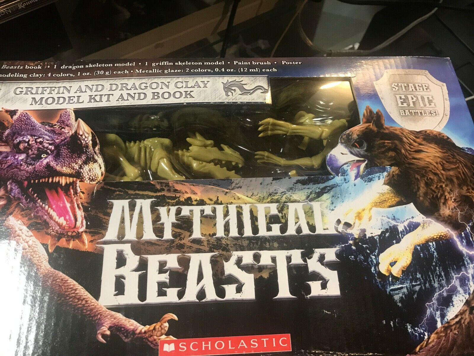 Mythical Beasts Griffin and Dragon Clay Model Kit /& Book Scholastic
