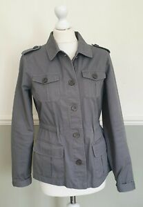 Mantaray-Ladies-Grey-Cotton-Jacket-Casual-Fitted-Lightweight-Summer-UK-10