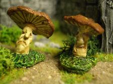 Pair of Mushrooms Thomarillion Unpainted Metal Dwarven Forge D&D