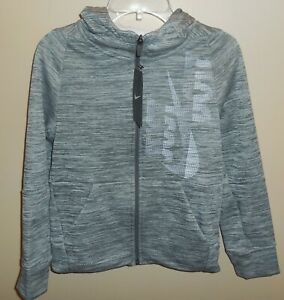 Nike-Therma-Boys-Small-Full-Zip-Hooded-Jacket-Black-Grey-939852-091-New