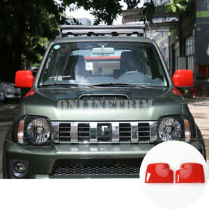Red-Exterior-Side-Rearview-Mirror-Trim-Cover-2pcs-For-Suzuki-Jimny-2007-2017