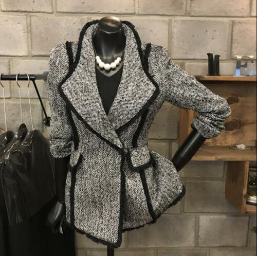 Casual Ladies Chic Suit Y288 Slim Lapel Frakker Kvinder Elegant Uld Office Jakke xxqH8UwO