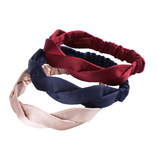 Women/'s Plain Knot Headband Hairband Head Wrap Turban Tie Hair Band Accessories