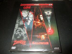 "COFFRET 4 DVD NEUF ""CABAL / HALLOWEEN / ZOMBIE / WISHMASTER"" horreur"