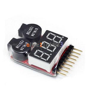 10-Piezas-1-8s-Lipo-Li-ion-Fe-Bateria-Voltaje-2en1-Probador-De-Voltaje-Bajo-timbre-de-alarma
