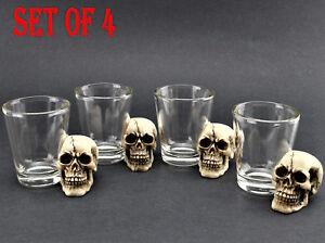 Set-of-4-Skull-Shot-Glass-Skull-Head-Pirate-Shot-Glass-Cup-Wine-Vodka-Whiskey