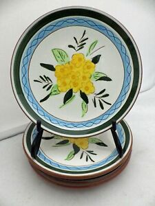 Stangl-Pottery-Country-Garden-pattern-set-of-4-Bread-amp-Butter-plates-EUC