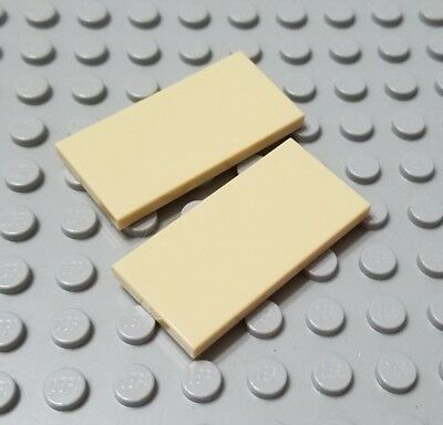 New LEGO Lot of 2 Reddish Brown 2x4 Tile Pieces