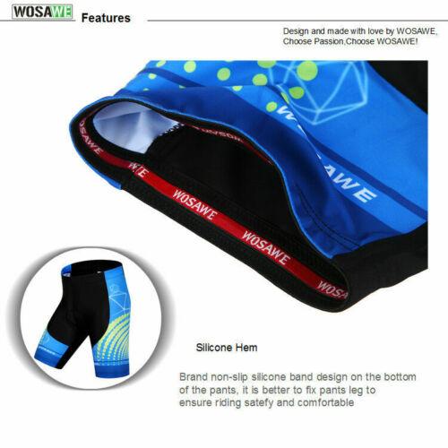 Men/'s Cycling Jersey MTB Bike Shirt Gel Pad Short Pants Bicycle Clothing Set