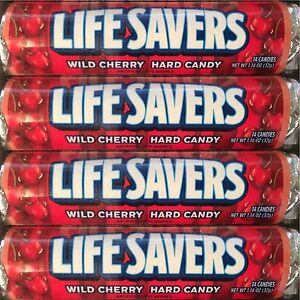 Lifesavers-Wild-Cherry-Candy-40-Rolls-14-Pieces-per-Roll-Free-Shipping