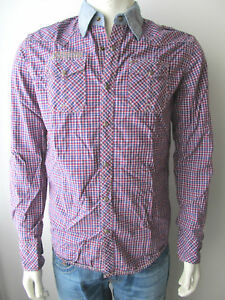 Scotch-amp-Soda-Herren-Shirt-Hemd-Camicia-005-Kariert-M