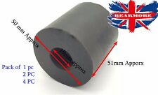 Rubber Spacer Shocker Bush Mounting Absorber Dampener Vibration insulator 50mm L