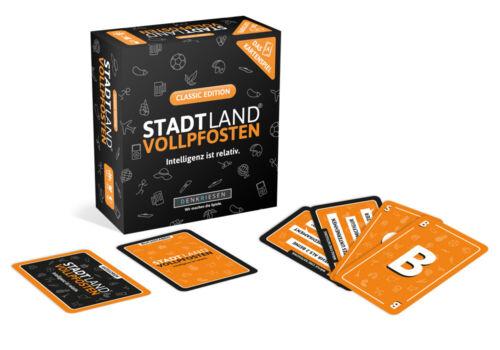 Stadt Land Vollpfosten Classic Edition Das Kartenspiel ab 12 Jahren Reisespiel