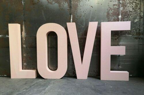 4 Lettres 80 cm Inscription Love FETE atmosphère Event mariage Polystyrène