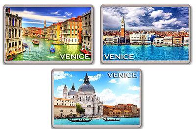 VENICE ITALY SET OF 3 FRIDGE MAGNET SOUVENIR 3 IMANES NEVERA VENECIA