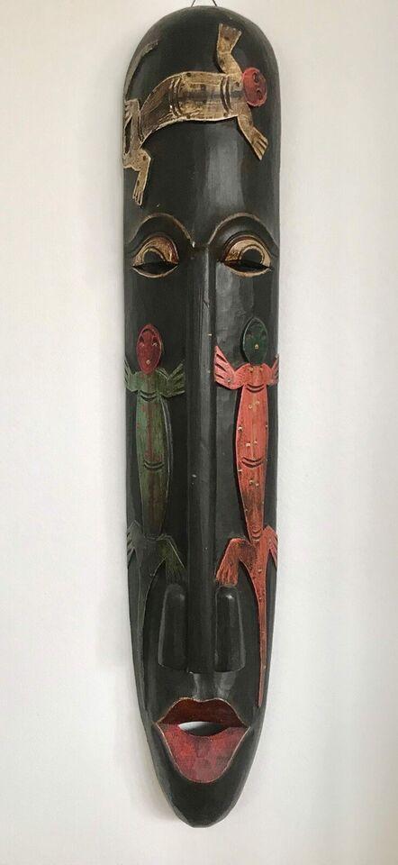Aflang maske, motiv: Afrikansk