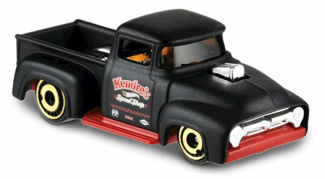 Hot Wheels CUSTOM/'56 FORD TRUCK noir HW Rod Squad 8//10 2019 nouveau